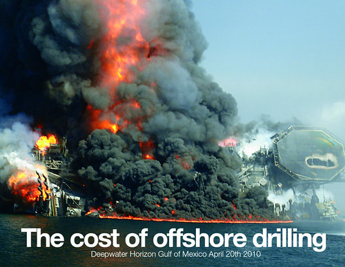 Greenpeace image: The cost of offshore drilling
