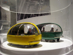 Yellow and Green Futuristic Concept Bug Like Cars 1306 (Brechtbug) Tags: from new york city green cars car yellow museum bug that culture like fair exhibit worlds concept futuristic diorama 1939 appeared 5182010