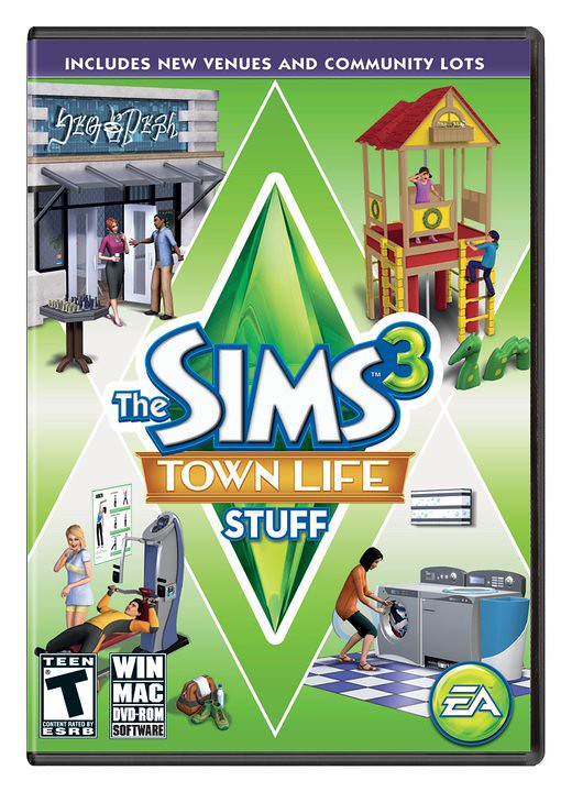 Sims 3 Town Life Stuff Pack Box Shot