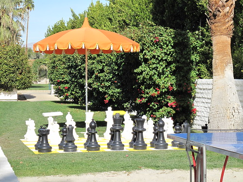 Chess set at the Parker