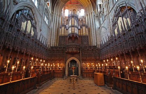 Ripon Cathedral choir stalls
