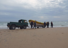 FC Land Rover on beach at Coconut Bay, Mozambique 1