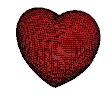 Corazón rojo en 3D-2