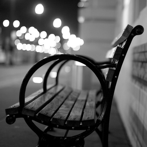 A Bench At Night