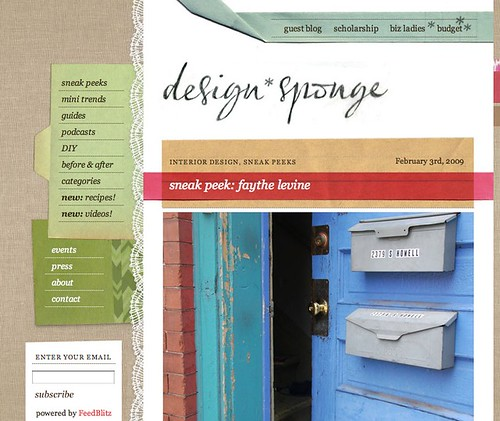 design*sponge sneak peek: Faythe Levine