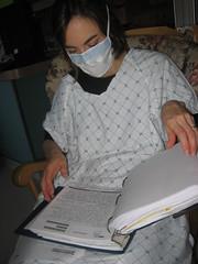 Doing homework at the NICU