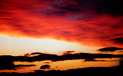 fire in the sky (gianluca_cozzolino) Tags: world sunset sky clouds landscape scotland reflex nikon tramonto nuvole emotion dia emotions sunsetsky reportage twr analogic diapo scozia scotlandclouds colourartaward nikonblack gianlucacozzolino cieloscozzese