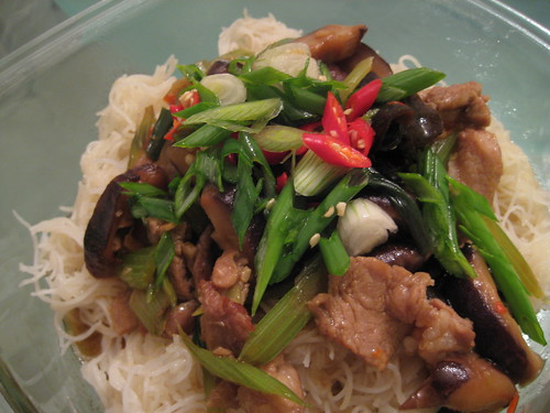 Stir-fry Rice Vermicelli Lunch Box