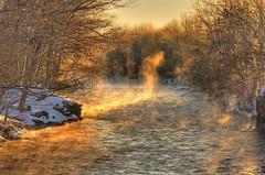 Wisps (Matt Champlin) Tags: morning winter light orange sun sunlight mist cold history sunrise canon river fishing freezing steam salmonriver hdr wisp steelhead brrr pulaski pineville altmar steelies platinumphoto anawesomeshot aplusphoto eos40d nothernnewyorkupstatenewyork photocontesttnc09