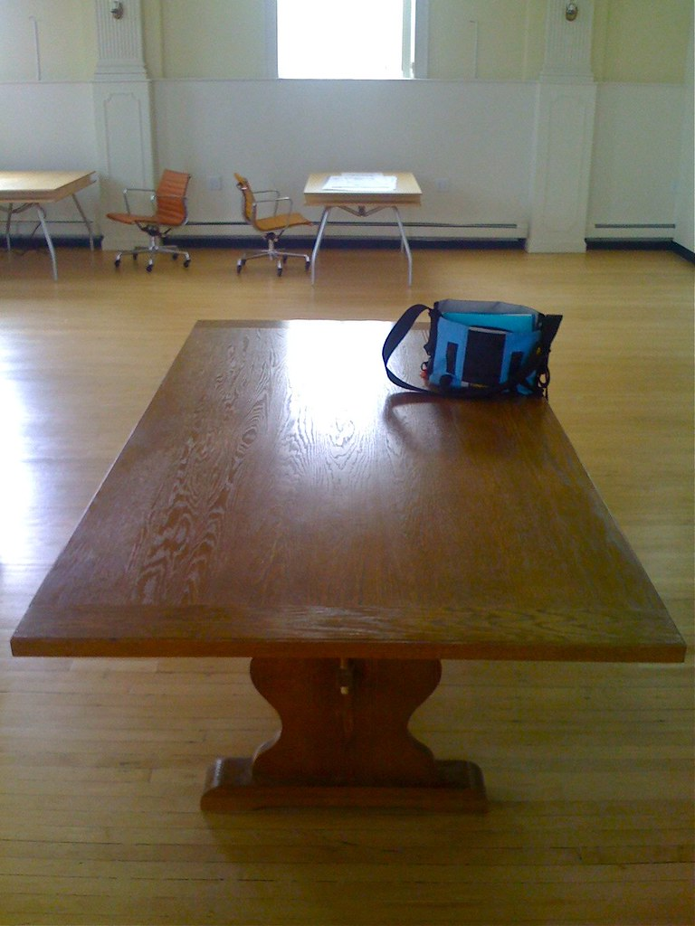 Public library table