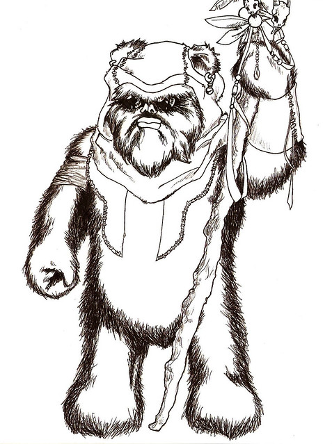 star wars ewok coloring pages - photo#15