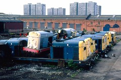 Class 20 20023 MC Metals 10/8/92 (Stapleton Road) Tags: depots scrap class20 choppers britishrail railwayphotography scotland mcmetals glasgow scrapyard diesel train locomotive railway