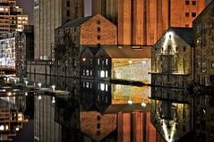 Grand Canal Dock (shaymurphy) Tags: old ireland dublin reflection water station night buildings dark canal dock long exposure forsale grand irland buy purchase dart irlanda irlande ierland irska  irlandia irsko  nikkor18200vr  airija irlanti  iirimaa redbubble rorszg nikond300   rija rsko