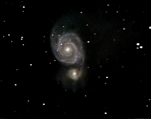 M51-The Whirlpool Galaxy on 2/23/09