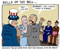 Belle of the Ball (Bob Clendaniel) Tags: cartoon politicalcartoon editorialcartoon obamacartoon