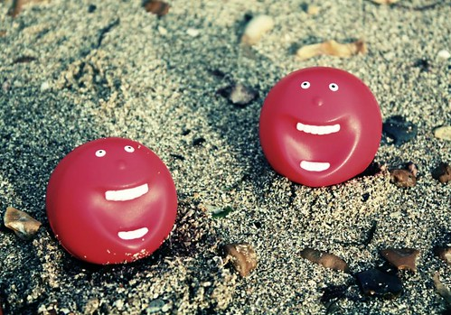 red nose day on the beach