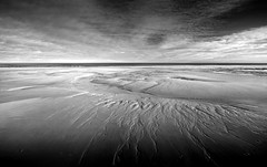 in the absence of anything (Ray Byrne) Tags: blackandwhite bw beach patterns northumberland crop montone totally raybyrne byrneoutcouk webnorthcouk