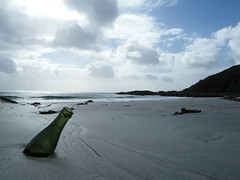 Washed Up (DMeadows) Tags: sea seaweed skye beach beer clouds island bay coast scotland bottle sand waves tide alcohol flotsam isle tidal tranquil secluded davidmeadows dmeadows yahoo:yourpictures=waterv2