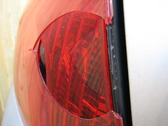 Peugeot 407 broken rear-light