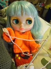 Noëlle tries crochet.