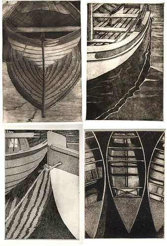 affordable artwork: boat etchings