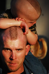 bodily excercise when compulsory does not arm the body but knowledge wich is acquired under compulsions obtain no hold to the mind (pix@hilaire) Tags: portrait cute mohawk americana piggyback likefatherlikeson bikeweekthree