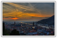 Sun on Heidelberg (Lars Kehrel) Tags: old city sunset red sky orange sun color colour rot church k river landscape abend town paint sonnenuntergang pentax spirit d painted kirche himmel down lars holy explore 200 colored heidelberg fluss geist landschaft sonne coloured hdr neckar hdri heilig untergang abendrot gemalt 200d k200 k200d kehrel