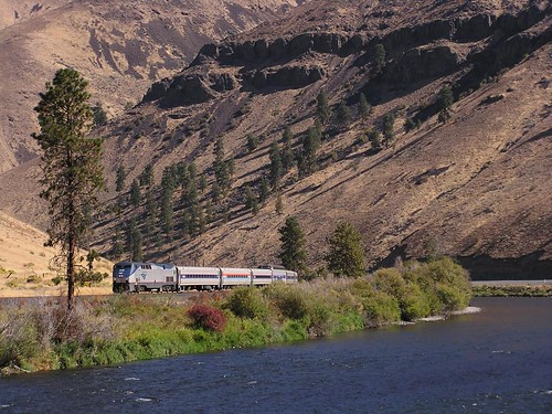 Amtrak on a special charter to Yakima