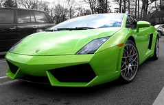Lamborghini Gallardo LP560-4 (sledhockeystar7) Tags: street verde green bright parking lot spot parked lime ithaca lamborghini gallardo lp5604