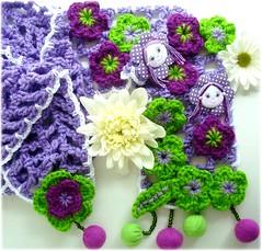 Irms (Lidia Luz) Tags: flower scarf doll handmade crochet flor boneca cachecol croch lidialuz
