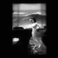 memory (B.S. Wise) Tags: ocean sanfrancisco portrait blur art beach water vintage pose dark photography photo bath wind ghost grain wave retro memory figure infrared 1995 bathingsuit poise bradswise fauxvintage bathingbeauty aod ixtlan afterthought laciudaddelosniosperdidos lenguajecorporal lovelyandamazingvintageinspired ageofdecadence 2bdasest bswise fragmentsofkantiandoctrine dontbeafraidofblur theessentialisinvisible myheartprofoundlyflutteredmysoulseyegrewclear jeneregretterienbyinvitedarckrenabled