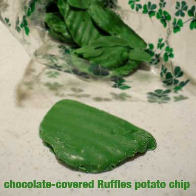 Chocolate-covered Ruffles potato chip