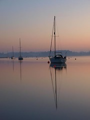 Deben 122 Waldringfield (barrycross) Tags: uk reflection water sunrise dawn boat suffolk spring flickr yacht calm bouy equinox dinghy moorings riverdeben barrycross easternlightphotography barrycrossphotography wwwbarrycrossphotographycom
