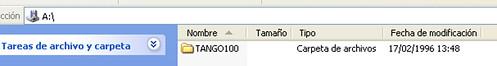 contenido del disquete tango 100
