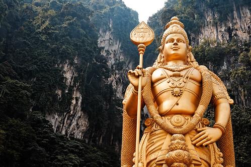 フリー画像| 人工風景| 彫刻/彫像| ムルガン神| マレーシア風景| ヒンドゥー教|      フリー素材|
