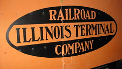 The Illinois Terminal Railroad corporate logo. The Illinois Railway Museum. Union Illinois. Friday, July 3rd 2009.