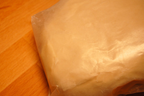 Wax-paper wrapped Dough