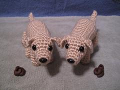 Both Pooping Dogs (spsandsteel) Tags: dog puppy crochet dump crap poop doggy poo amigurumi doggies pooping doodoo