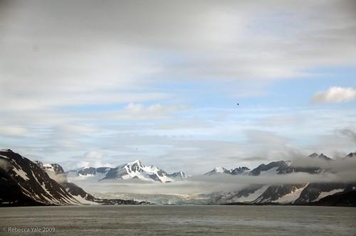 Landscape of the Bellsund, Svalbard