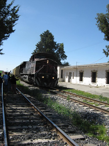 Tren pasando en Huamantla
