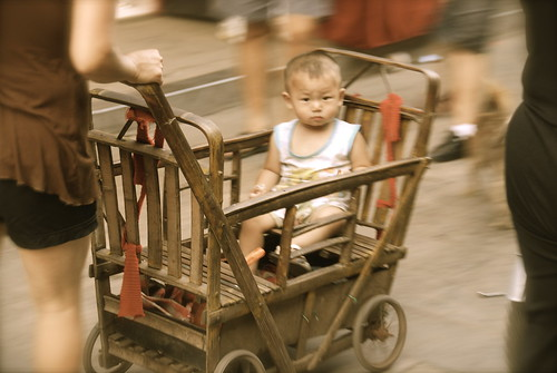 Ride in the Bamboo Stroller
