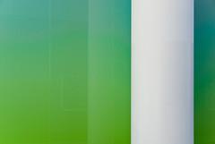 Section, reflection, pillar. London 2009 (Myxi) Tags: england urban colour reflection green london glass nikon aqua geometry pillar panes minimal gradient minimalism newlook moorgate sections frosted interestingness80 reductionism reductionist