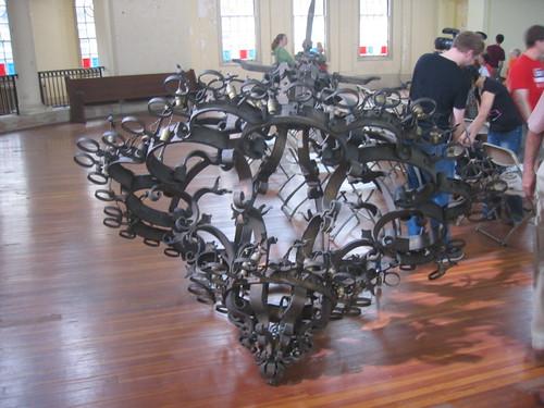 The Rotunda's chandelier/sculpture