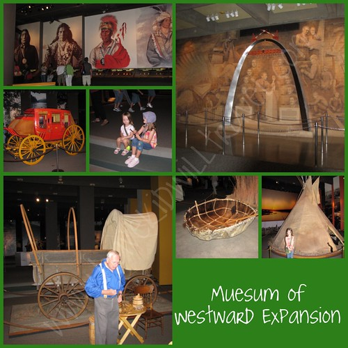 Muesum of Westward Expansion collage, Gateway Arch, St. Louis, Missouri
