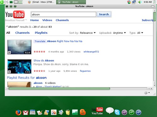 Youtube on google using Google Apps in gOS
