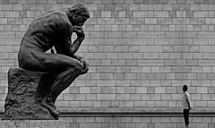 (ssj_george) Tags: leica man paris france scale statue wall museum standing lumix europe alone sitting bricks thinker panasonic human single thinking 1001nights rodin admiring rodinsthinker inscale platinumheartaward fz28 ssjgeorge