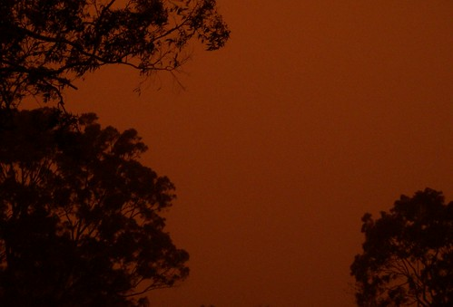 Red dawn, dust storm 23rd September 2009