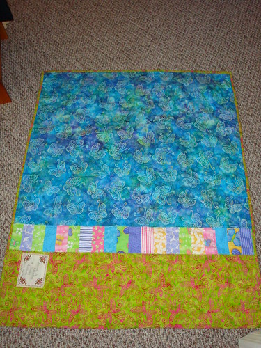 Butterfly Quilt Back