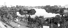 Looking out over Hoan Kiem lake