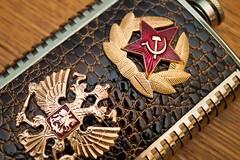 Soviet Flask (Scolirk) Tags: lenin hammer canon eos rebel flask russia communism soviet vodka sickle sovietunion ussr cccp 500d 1740mmf4lusm t1i
